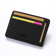Harga Pria Slim Billfold Dompet Kulit Pu Pemegang Peta Kredit Coin Money Clip Zip Bag Black Merk Not Specified