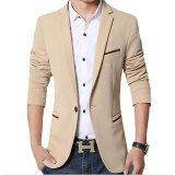 Promo Pria Slim Fit Fashion Cotton Blazer Suit Jacket Khaki