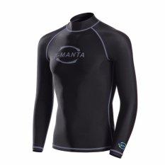 Dapatkan Segera Pria Sport Letter Print Swimsuit Top Patchwork Lengan Panjang Tabir Surya Wetsuit Ls 610 Abu Abu Intl