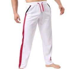 Celana Panjang Olahraga Pria Gym Celana Putih
