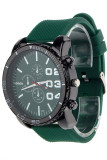 Pria Stainless Steel Olahraga Wrist Watch Green Jam Tangan Terbaru