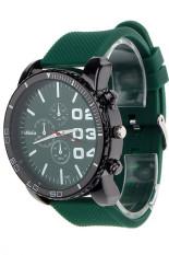 Jual Pria Stainless Steel Olahraga Wrist Watch Green Jam Tangan Import