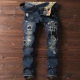Beli Pria Peregangan Skinny Slim Fit Jeans Biru Intl Ome Dengan Harga Terjangkau