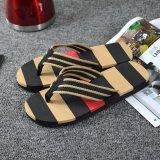 Pria Musim Panas Stripe Flip Flops Sepatu Sandal Pria Slipper Flip Flops Intl Not Specified Diskon 40