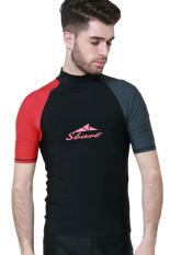 Spesifikasi Pria Pakaian Renang Panas Musim Snorkeling Scuba Menyelam Berselancar Mengenakan Lengan Bang Pendek Rashguard Berselancar T Atasan Type1 Online