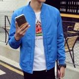 Harga Pria Tipis Warna Solid Kerah Bisbol Coat Versi Korea Santai Jaket Pria Intl Oem Ori