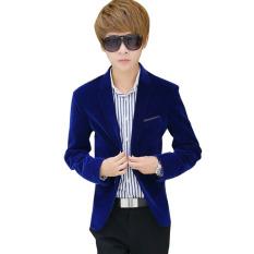 Beli Jaket Pria Jaket Beludru Dewasa Smart Slim Fit Jaket Mantel Biru M Internasional Baru