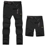Spek Men Waterproof Outdoor Celana Bersepeda Breeches Outdoor Trouper Two Detachable Disjointed Trousers Black Intl Oem