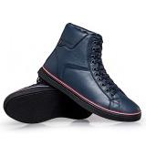Harga Pria Musim Dingin Fashion Tinggi Tumit Sepatu Bot Koboi Kulit Baru Murah