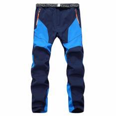 Jual Pria Musim Dingin Thicked Hangat Outdoor Celana Waterproof Untuk Hiking Camping Bersepeda Ski Biru Intl Original