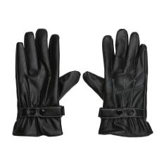Cuci Gudang En Winter War Ittens Lined Fleece Black Faux Kulit Touch Gloves