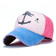 Pria Wanita Topi Bisbol Kedok Disesuaikan Vintage Sopir Truk Olahraga Golf Snapback CAP Danau Biru-Intl