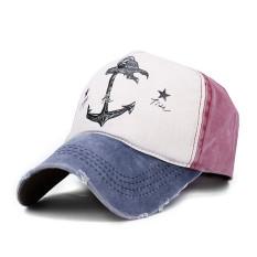 Pria Wanita Topi Bisbol Kedok Disesuaikan Vintage Sopir Truk Olahraga Golf Snapback CAP Navy-Intl