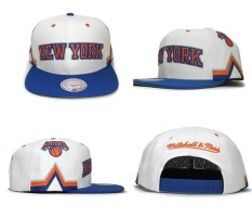 Pria Wanita Basket Caps LOGO Snapback Caps New York Knicks Sport Topi NBA Unisex Musim Panas Bone Modis (Putih) -Intl