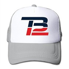 Men Women Brady Comeback TB12 Trucker Hat Baseball Cap Mesh Hat (6 Colors) Black - intl