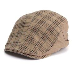 Beli Men Women Duckbill Driving Flat Ivy Golf Beret Cap Peaked Sport Hat Cabbie Hat Khaki Intl Kredit Indonesia