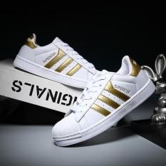 Ulasan Mengenai Men Women Fashion Sport Shoes Couple Outdoor Casual Sneaker All Match White Canvas Shoes Intl