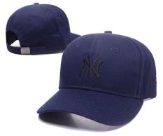 Pria Wanita Sport Topi Unisex Resmi MLB Snapback Topi Baseball Topi New York Yankees Modis Sederhana (Navy Biru) -Intl
