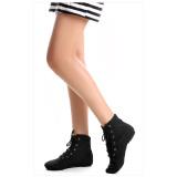 Spek Pria Wanita Top Kanvas Modern Jazz Ballet Dance Split Heels Sole Multicolor Sepatu Tiongkok