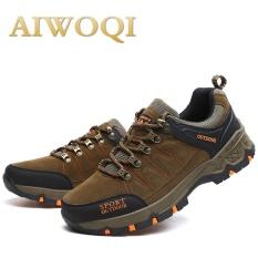 Pria Wanita Rendah Anti-Air Non-slip Sepatu Daki Gunung Luar Ruangan Pendakian Daki Gunung Sepatu Aiwoqi-Internasional