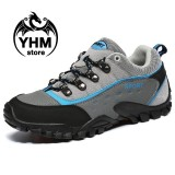 Review Men S Anti Collision Hiking Shoes Waterproof Mountain Boots Climbing Shoes Intl