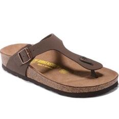 Men's Authentic Birkenstock Ramses Flat Birko-flor Flip Flop Sandal Ukuran 40-46 (Brown) -Intl