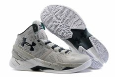 Men's Basketball Shoes Offical Mid Top UA Curry 2 Two Storm ( Grey ) - intl