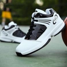 Pria Basket Sepatu Sneaker Tren A Basket Sport Boots-Putih-Intl