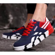 Beli Pria Kanvas Sepatu Lari Santai Pria Sport Lace Up Sepatu Pria Fashion Bernapas Flats Sepatu Intl