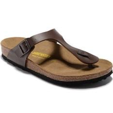 65ca82bfe Pria Kasual Birkenstock Ramses Gizeh Flat Birko-flor Flip Flops Sandal  Ukuran 40-46