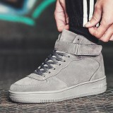 Spesifikasi Men S Fashion High Top Leather Street Sneakers Casual Sports Shoes Basketball Shoes Intl Terbaru