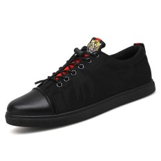 Men S Fashion Sneakers Shoes Male All Match Black Canvas Shoes Intl Di Tiongkok