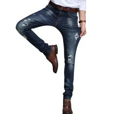 Pria Jeans//Ketat Jeans//Celana Kasual//Celana Panjang//Regang Jeans//Ripped Jeans 7605