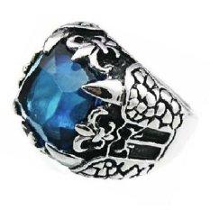 Jual Men S Jewelry Big Claw Blue Ring Titanium Steel Cincin Pria Satu Set