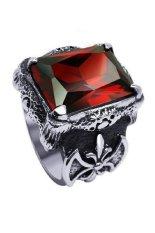 Harga Men S Jewelry Dragon Claw Big Red Ring Titanium Steel Cincin Pria New