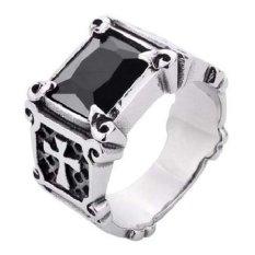 Spesifikasi Men S Jewelry La Croix Black Ring Titanium Steel Cincin Pria Lengkap