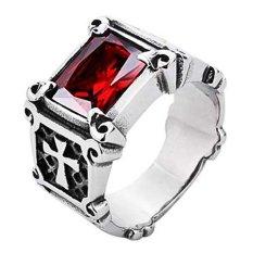 Diskon Produk Men S Jewelry La Croix Red Ring Titanium Steel Cincin Pria