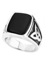 Toko Men S Jewelry Minimalist Retro Black Titanium Steel Ring Cincin Pria Silver Terlengkap Di Dki Jakarta