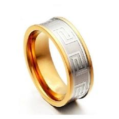 Beli Men S Jewelry Square Pattern Ring Titanium Steel Cincin Pria Silver Dengan Kartu Kredit