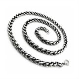 Katalog Men S Jewelry Twist Chain 6Mm Necklace Titanium Steel Kalung Pria Terbaru