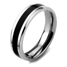 Men S Jewelry Two Tone Ring Titanium Steel Cincin Pria Men S Jewelry Diskon