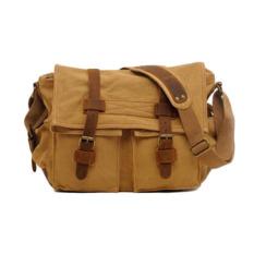 Situs Review Pria Kulit Kanvas Travel Casual Bag Shoulder Bags Intl