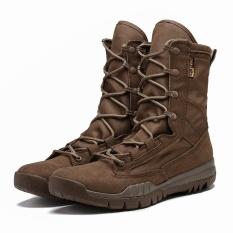 Beli Men S Mountaineering Olahraga Sepatu Pria Tinggi Gang Boots Desert Boots Keamanan Sepatu Olahraga Luar Ruangan Hiking Brown Intl Cicilan