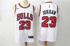 Pria NBA Chicago Bulls Resmi Putih Basket Jersey Michael Jorden #23-Intl