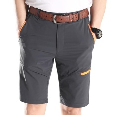 Celana Pria Musim Panas Kolam Cepat Kering Lebih Banyak Kantong Besar Ukuran Lebih (Abu-abu)-International