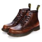 Spek Pria Plus Ukuran Eu45 Gradien Musim Dingin Genuine Leather Ankle Martin Boots Brown Intl