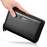 Ulasan Mengenai Pria Pu Kulit Bisnis Clutch Bag Handbag Dompet Tas Tas Ponsel Intl
