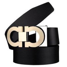 Promo Pria Halus Leather Buckle Belt 35Mm Kulit Hingga 42 Inch 105 115 Cm Untuk Memilih Intl Akhir Tahun