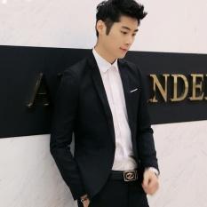 Pria Musim Semi Jaket Kenyamanan Slim Perapi Pria's Self-cultivationBritish Tampan Single Suit Versi Korea dari Satu Mantel Pasang & N-Internasional