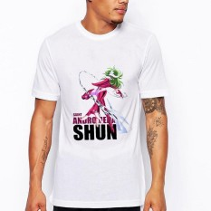 Men's Summer Fashion Saint Seiya Printed Round Leher Kaos-International
